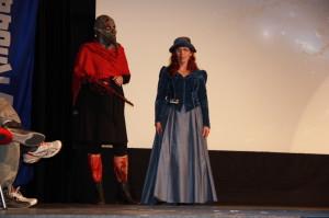Die Teilnehmer zum Kostümwettbewerb kamen aus der ganzen Galaxis