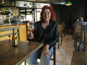Freitag vor dem Essen in Dudelange/Diddeleng, ein Leffe zur Einstimmung im Pub