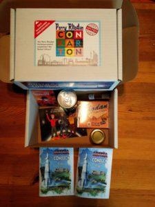 Die mit allerlei tollen Sachen gefüllte Überlebensbox - unter anderem mit Wiener Luft